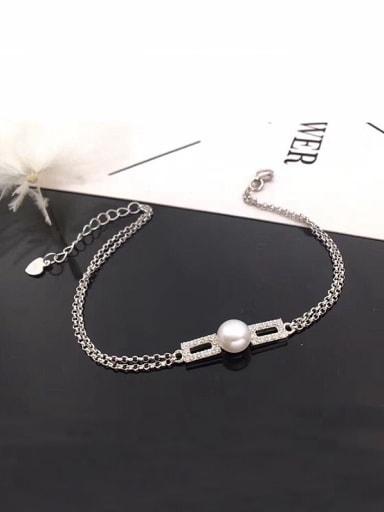 Freshwater Pearl Geometric shaped Bracelet