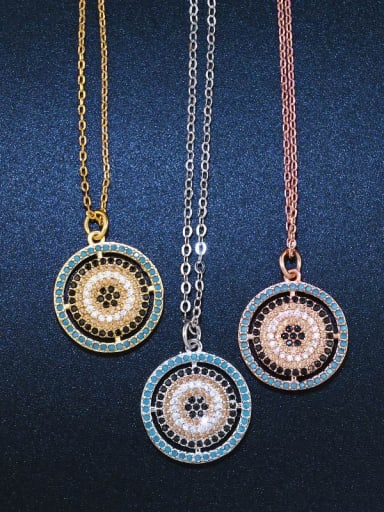 Copper With Cubic Zirconia Trendy Round Necklaces