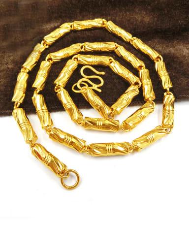 Unisex Gold Plated Geometric Shaped Necklace