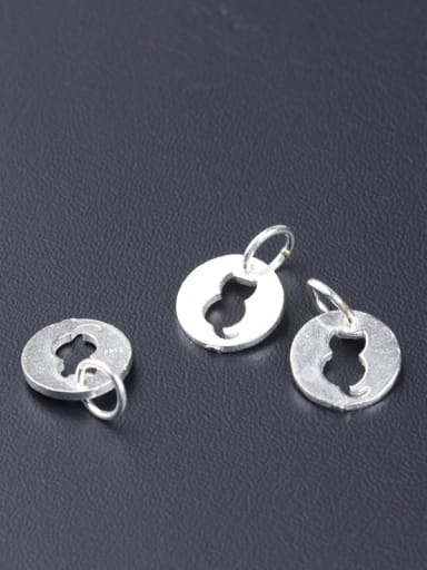 925 Sterling Silver With Silver Plated Cute Cat Charms