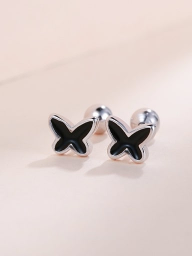 Charming Black Butterfly Shaped earring
