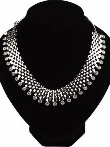 Fashion Exaggerated Cubic Rhinestones Alloy Necklace