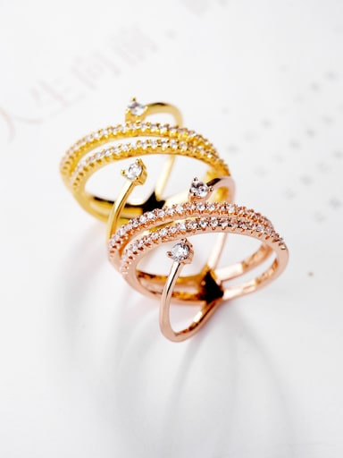 Personalized fashion micro-inlay zricon ring