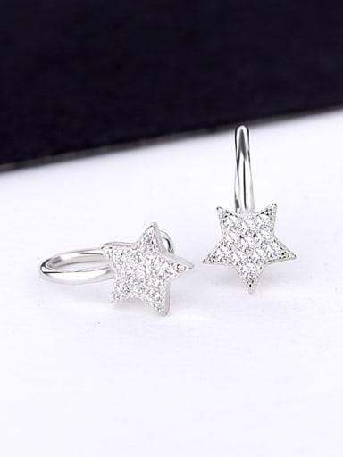 Tiny Star Zircon Clip On Earrings