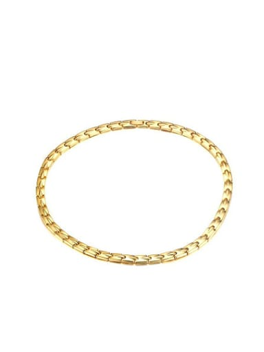 Luxury Gold Plated Geometric Shaped Magnet Titanium Necklace