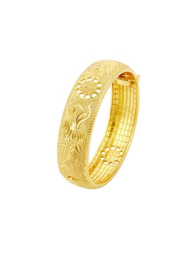 Copper Alloy 24K Gold Plated Ethnic style Dragon-phoenix Bangle