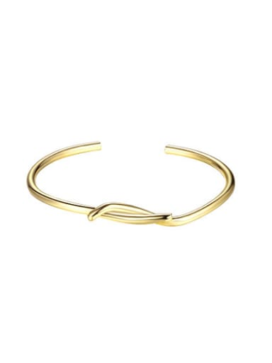 Delicate Gold Plated Cross Shaped Open Design Bangle