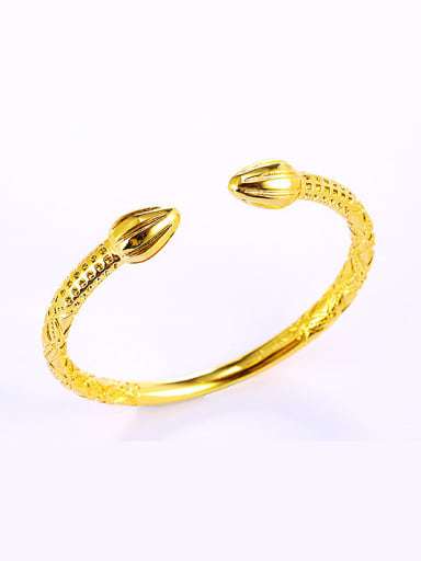 2018 Copper Alloy 24K Gold Plated Ethnic style Opening Bangle