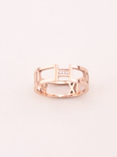 Personality Rome Letter Hollow Simple Ring
