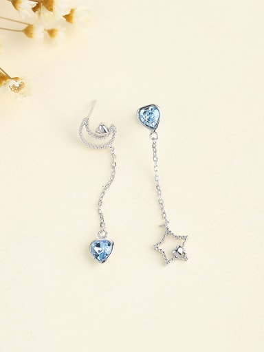 Women Elegant Asymmetrical Zircon Earrings