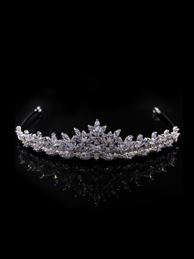 Luxury Crown-shape Fashion Copper Wedding Hair Accessories