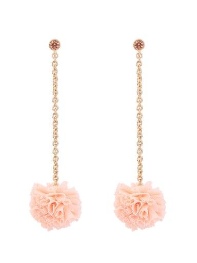 Handmade Flower Shaped Temperament Fashion Drop Earrings