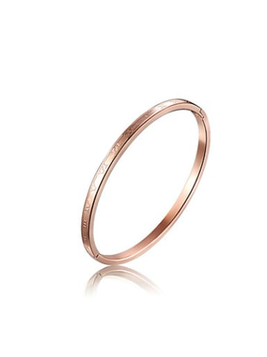 Fashionable Rose Gold Plated Stainless Steel Bangle