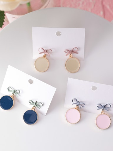 Alloy With Gold Plated Cute Bowknot Drop Earrings