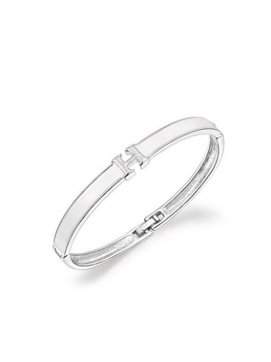 Delicate Letter H Shaped Acrylic Bangle