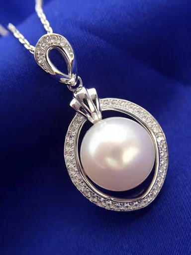 Simple Freshwater Pearl Oval Necklace