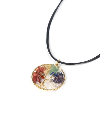 Colorful Natural Stones Handmade Women Necklace