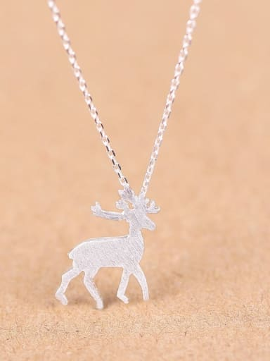 Fashion Mini-deer Silver Necklace
