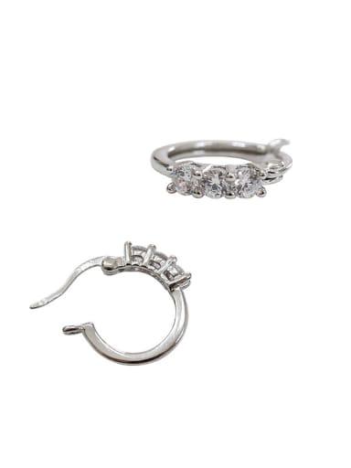 Fashion Cubic Zirconias Silver Women Earrings