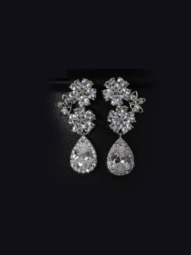 Shining Wedding Drop Cluster earring