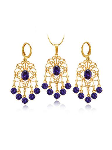 Retro style Zircon Two Pieces Jewelry Set