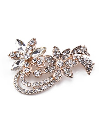 2018 2018 2018 2018 2018 2018 2018 2018 Rose Gold Plated Crystals Brooch