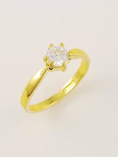 Women Simply Style Round Shaped Zircon Ring