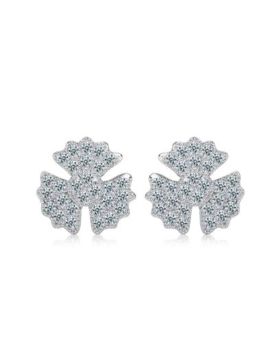 Korean Style Flower Elegant Stud Earrings