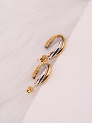 Geometric Simplicity Three Colors  Earrings