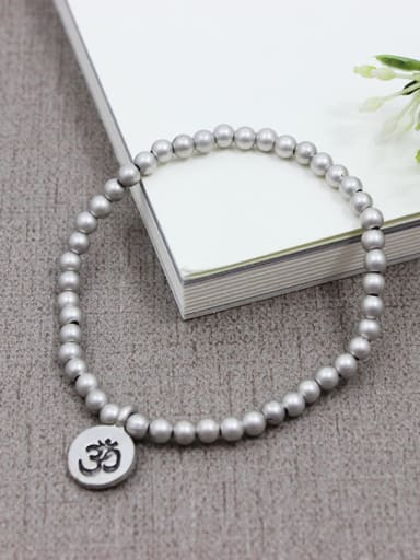 Fashion Silver Plated Beads Charm Bracelet
