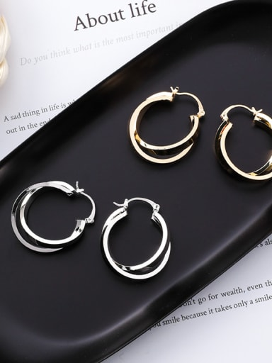 Alloy With Gold Plated Simplistic Square Earrings