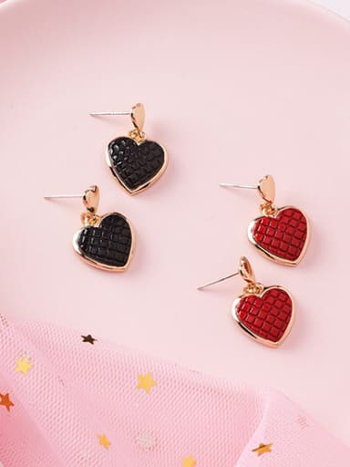 Alloy With Rose Gold Plated Cute Heart Drop Earrings