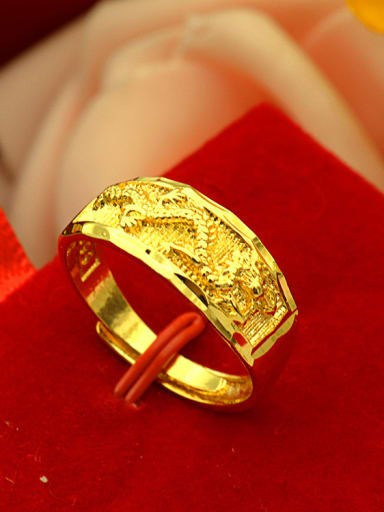 Gold Plated Dragon Pattern Ring