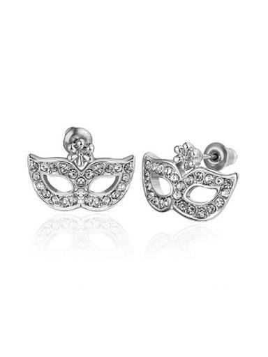 Personalized Mask Zircon Stud Earrings