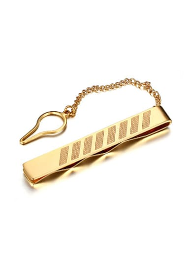 All-match Gold Plated Geometric Titanium Lapel Pins