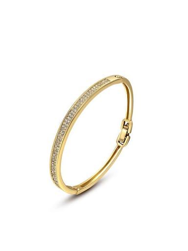 All-match 18K Gold Plated Geometric Shaped Bangle