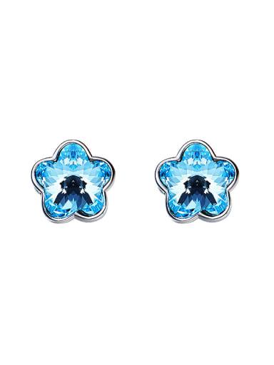Flower-shaped Swarovski Crystal stud Earring