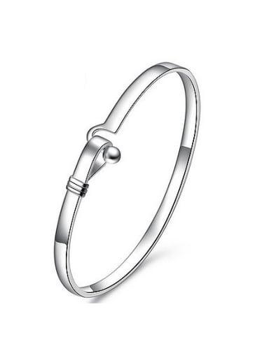 Simple 999 Silver Polishing Bangle