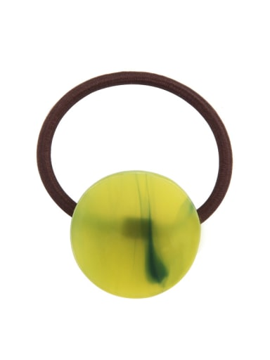 green Rubber Band With Cellulose Acetate Simple Round ShapedHair Ropes Hair Ropes