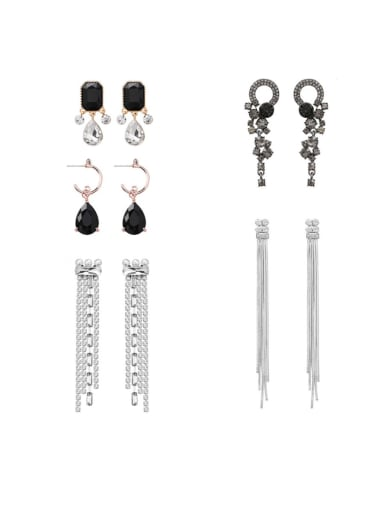 Alloy With Platinum Plated Fashion Irregular Drop Earrings