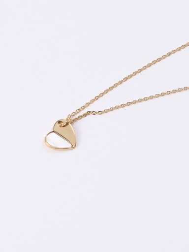 Titanium With Rose Gold Plated Simplistic Heart Locket Necklace