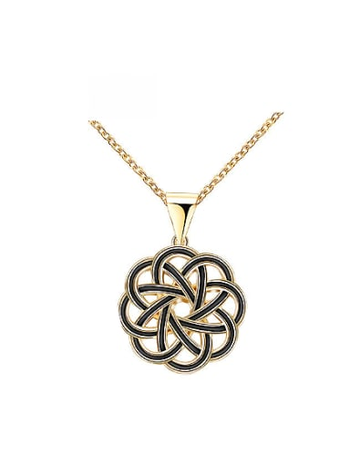 Personality 18K Gold Plated Flower Shaped Necklace