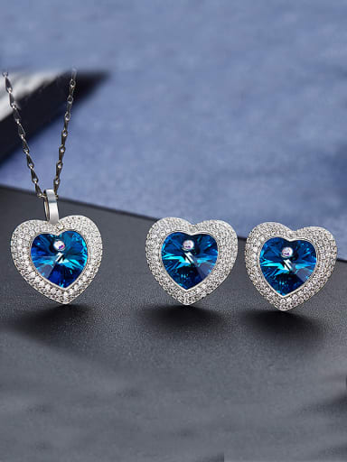 S925 Silver Heart-shaped Set