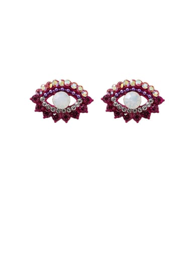 Alloy With Rose Gold Plated Simplistic Evil Eye Stud Earrings