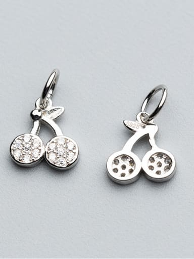 925 Sterling Silver With 18k Gold Plated Cute Cherry Charms