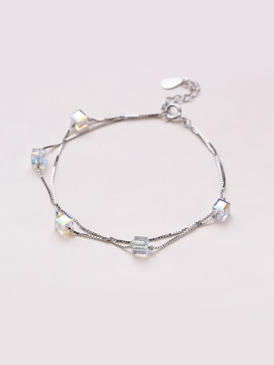 Temperament Square Shaped Zircon Bracelet