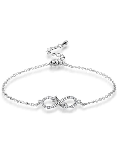 All-match Figure 8 Shaped Zircon Bracelet