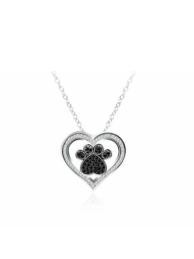 Creative Heart Shaped Glass Beads Women Necklace