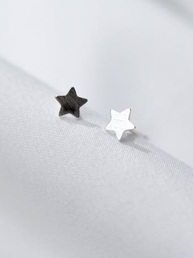 Women Fashion Star Shaped S925 Silver Stud Earrings