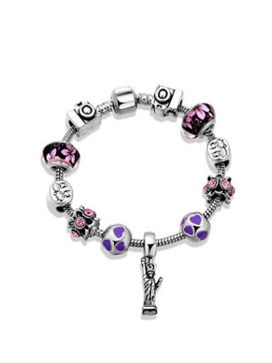 Women Elegant Glass Stone Enamel Bracelet
